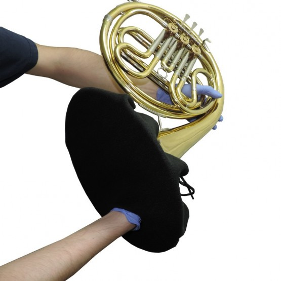 French Horn Bell Cover in Black