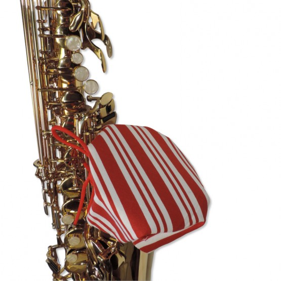 Saxophone Bell Cover in Candy Cane