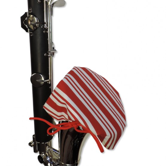 Bass Clarinet Bell Cover in Candy Cane