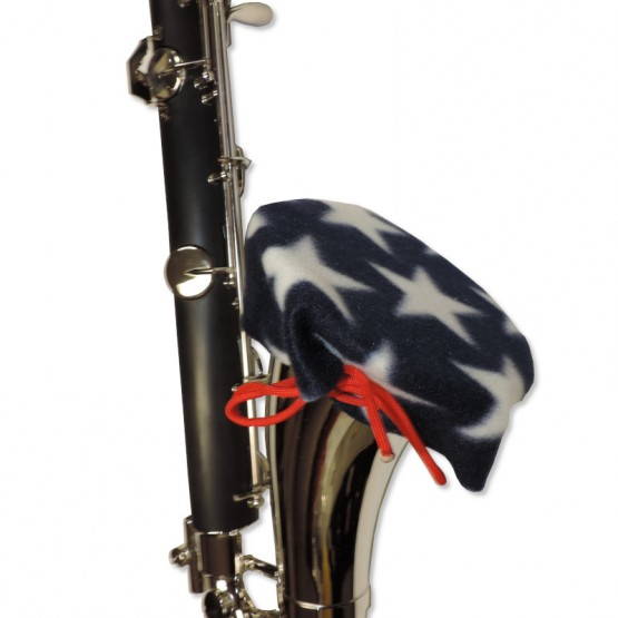 Bass Clarinet Bell Cover in Stars