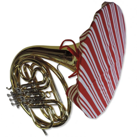 French Horn Bell Cover in Candy Cane