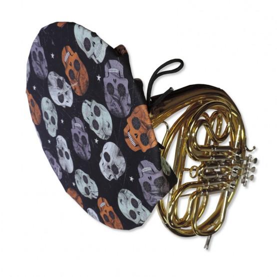 French Horn Bell Cover in Skull